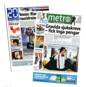 2 commuters' free dailies: 20 Minutes and Metro
