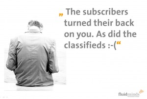 Subscribers turn back on newspapers